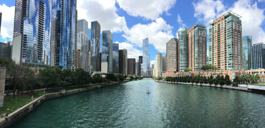 The Chicago Riverwalk is a fun place to go running in Chicago!
