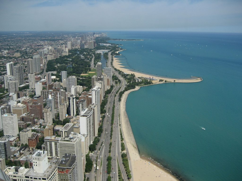 The Lakefront Trail is one of the most popular Chicago running trails.