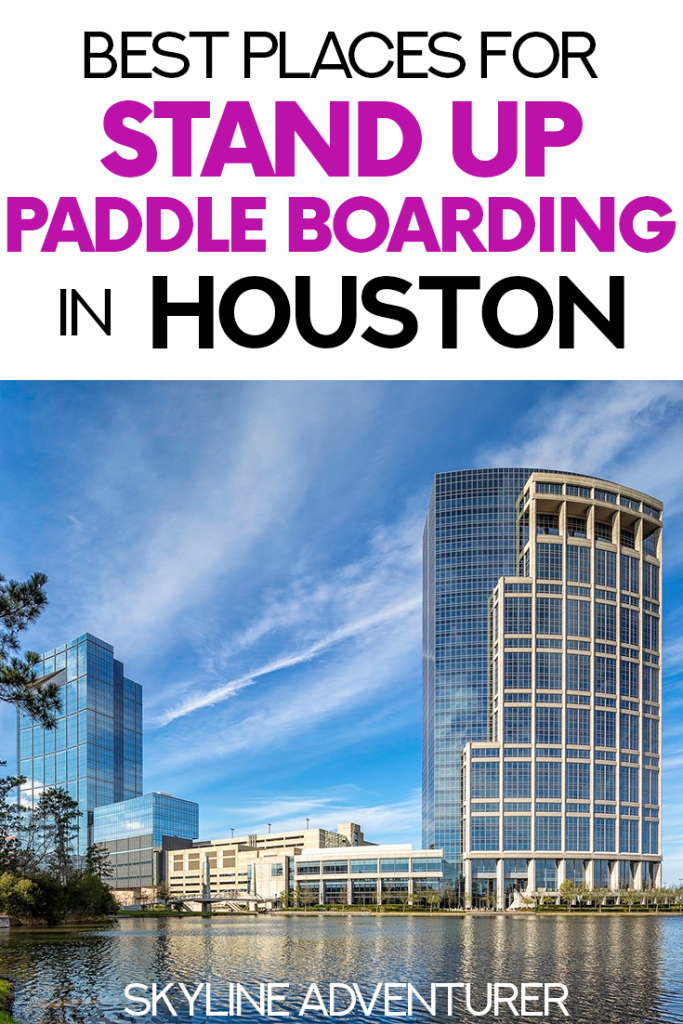 Stand up paddle boarding is a wonderful Houston outdoor activity that's perfect for seeing the city. We wrote this guide to the best places for stand up paddle boarding in Houston, including paddle board rentals, where to go, and cool tours you can take on a SUP! #SUP #paddling #Houston #Texas