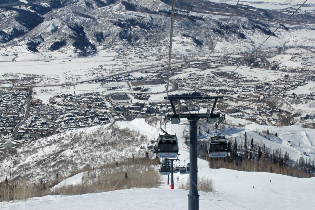 With wide open trails, Steamboat Springs (pictured) is one of the best ski resorts for beginners in Colorado.