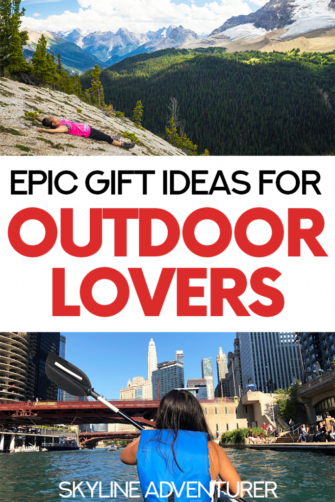 Looking for the perfect gift for your outdoorsy friends and family? This complete guide to gifts for outdoor lovers will definitely have what you're looking for! We've included some of the most clever, affordable/budget-friendly, and fun gifts for hikers, cyclists, kayakers, skiers, climbers, snowboarders, and more! | Christmas gift guide | gifts for outdoorsy people | outdoor gifts | presents for outdoor lovers |