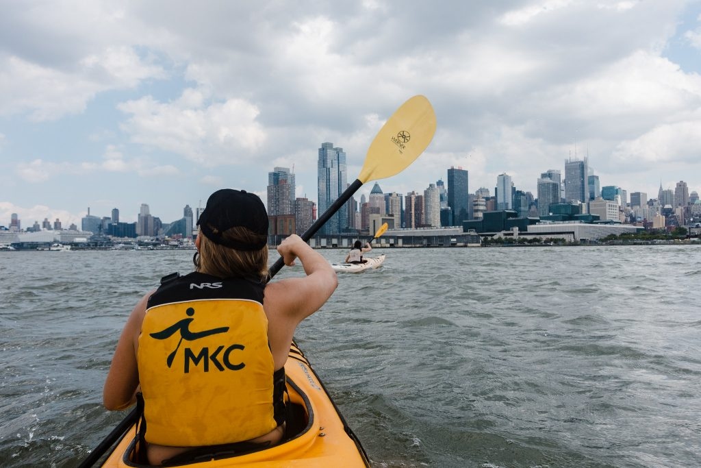 Kayaking can be an urban activity right near your city!  City skyline kayaking is also beautiful.
