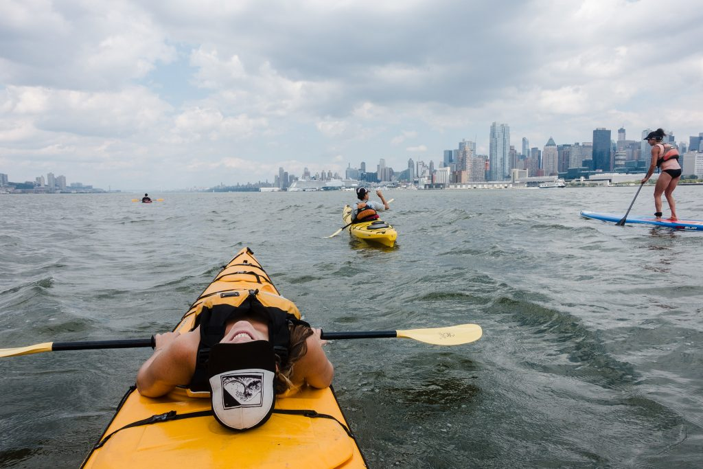 Paddle board and kayak in New York City to see the skyline in a whole new way.