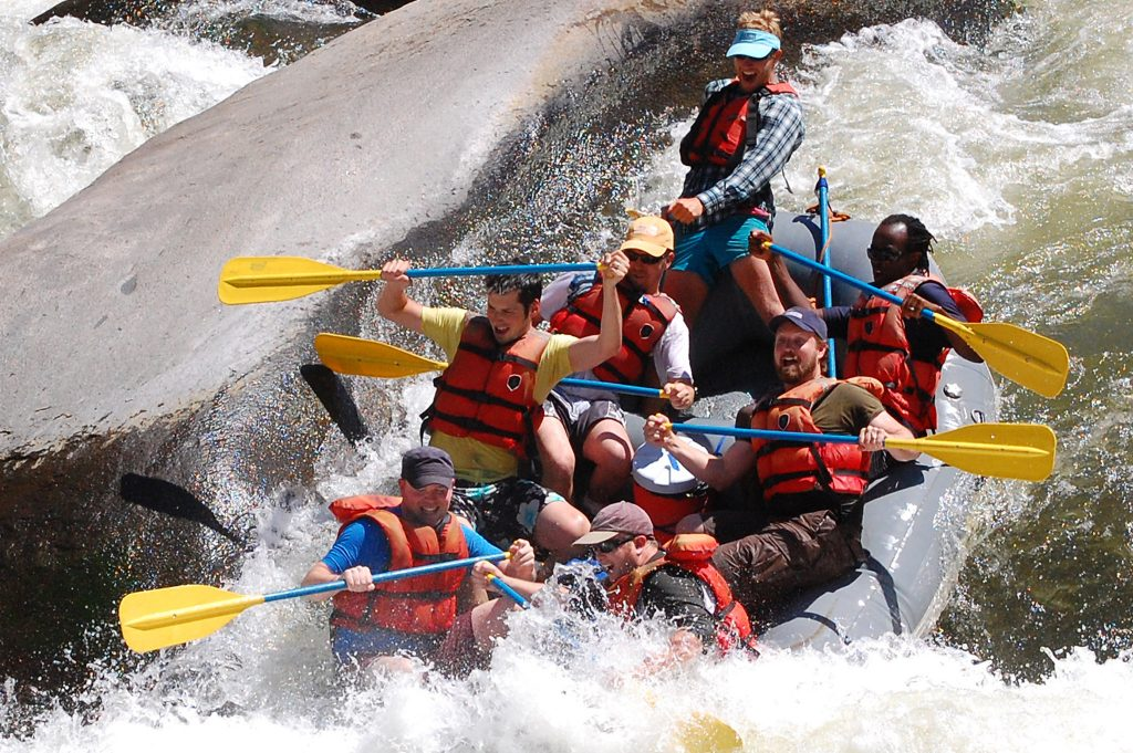 White water rafting down the intense rapids of Kern River is one of the most challenging places to kayak in Los Angeles.