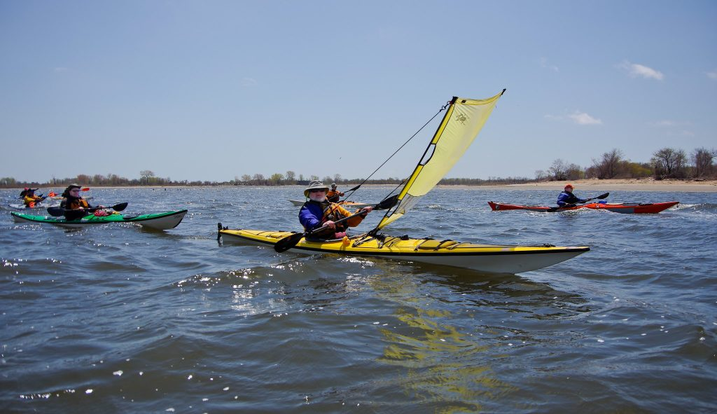 Kayaking in New York City turns into a fun adventure when you add a sail! Cruise the waves with this kayak-sail hybrid.