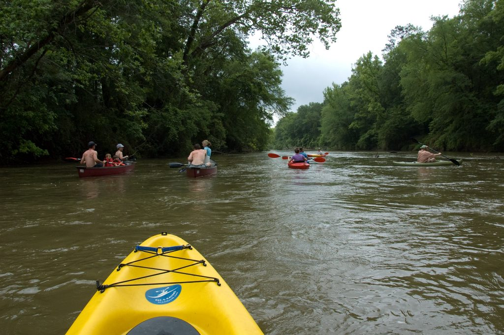 Kayaking in Atlanta's Ocmulgee River is a beautiful way to explore Atlanta's outdoors!