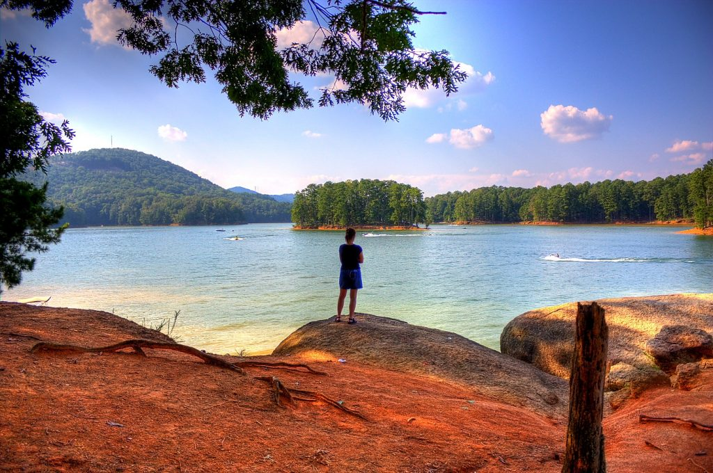 Kayaking in Atlanta is an exciting adventure! You can explore tree-lines islands and little inlets too!
