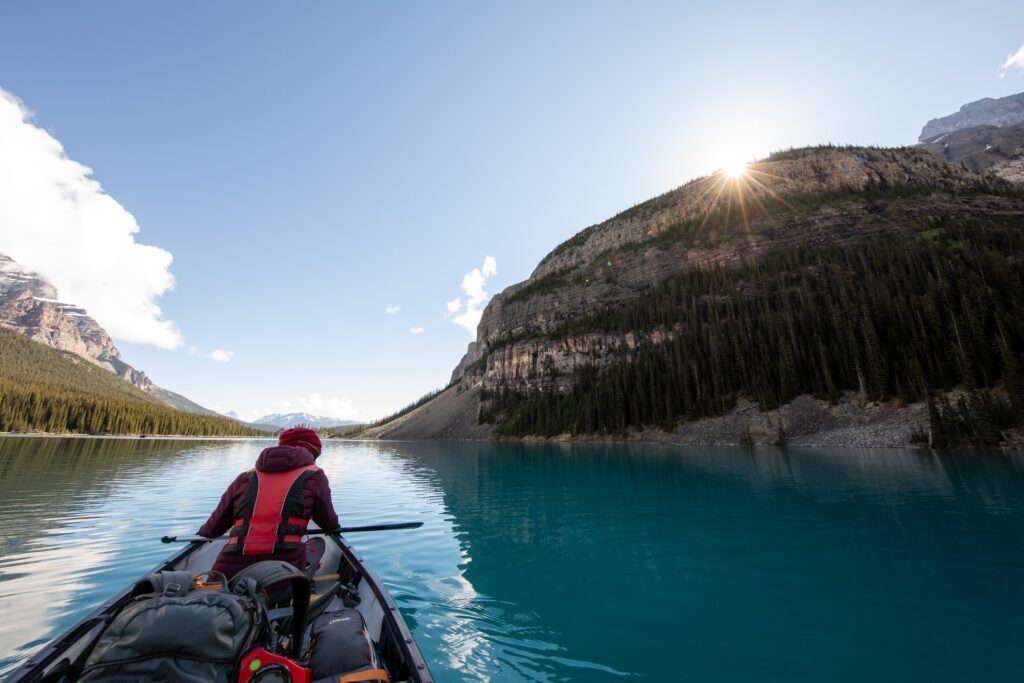 experience new adventures around every bend when going canoeing or kayaking.