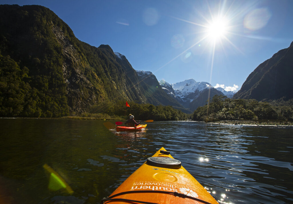 kayaking in portland offers spectacular views of mountains and other beautiful geological formations.