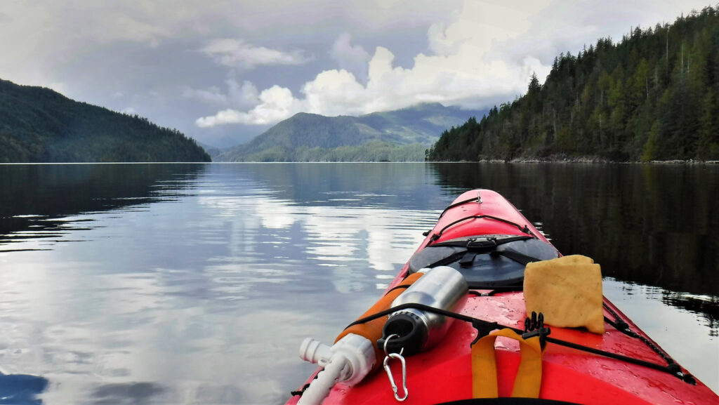 kayaking around mii islands and lakes is a great way to get around!