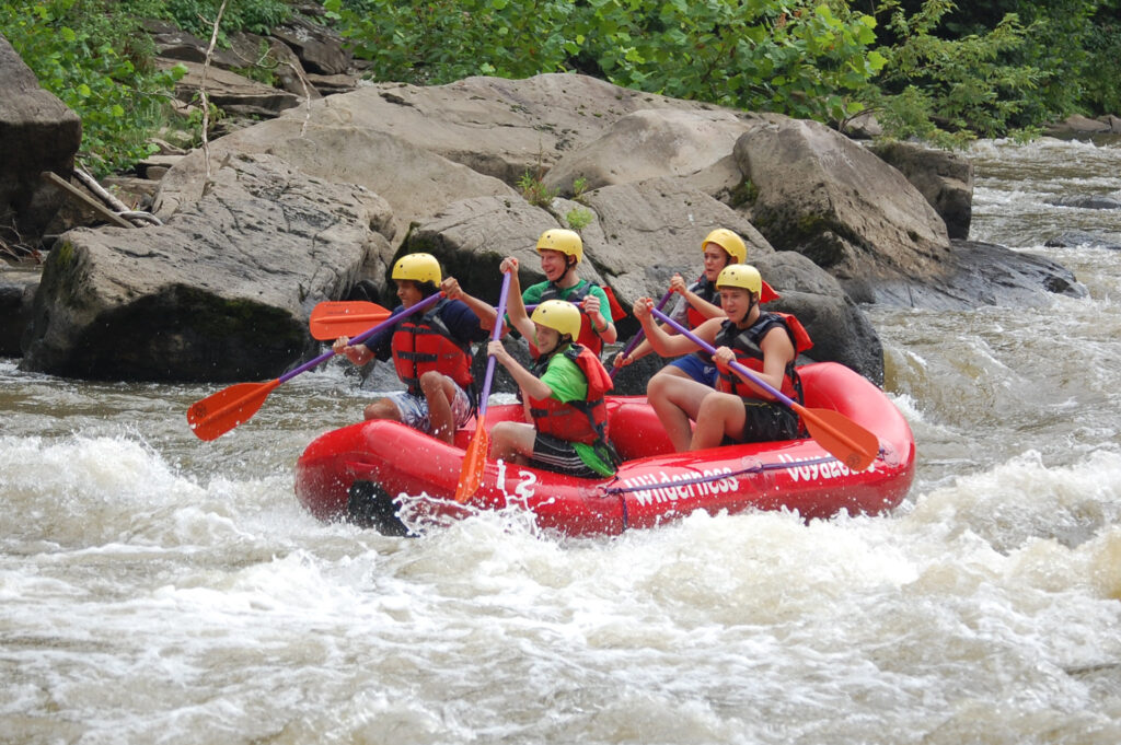Whitewater rafting and kayaking is a thrilling adventure with all of those rapids and crashing waves!