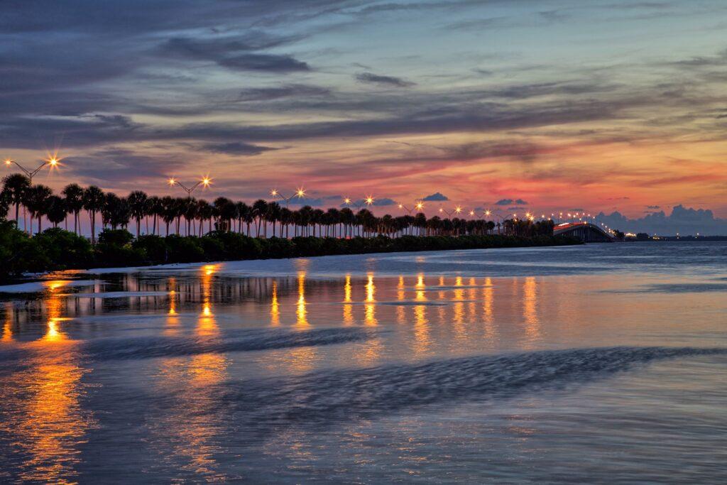 beautiful coastline in Tampa- a wonderful setting to go kayaking in Tampa
