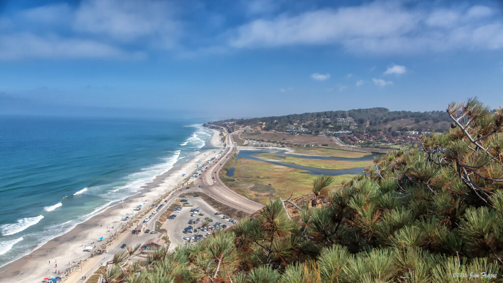 coastal shorelines of torrey park are a beautiful way to see san diego