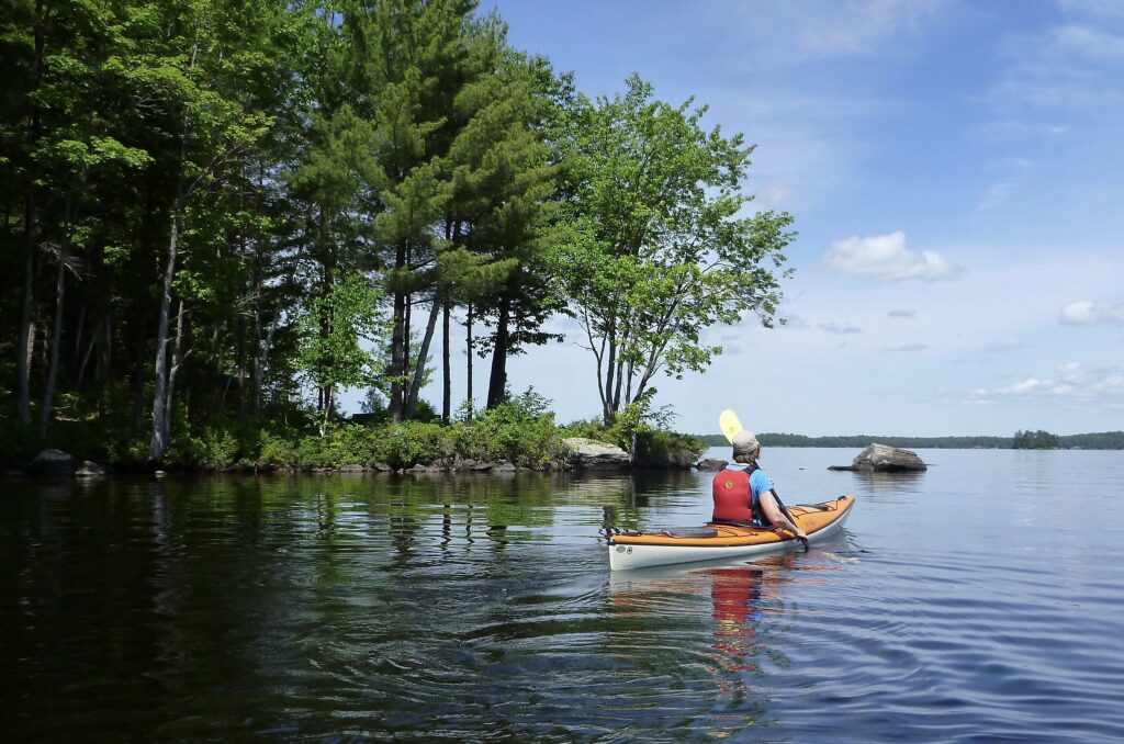 when kayaking in Baltimore visitors can explore mini islands angdcoves.