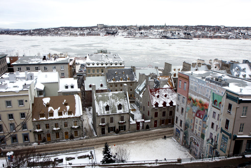 Quebec City in winter