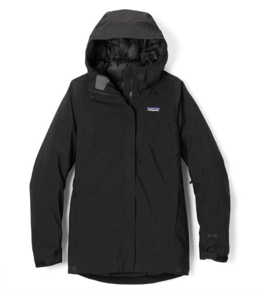 Best women's ski jackets - black Patagonia Primo Puff jacket