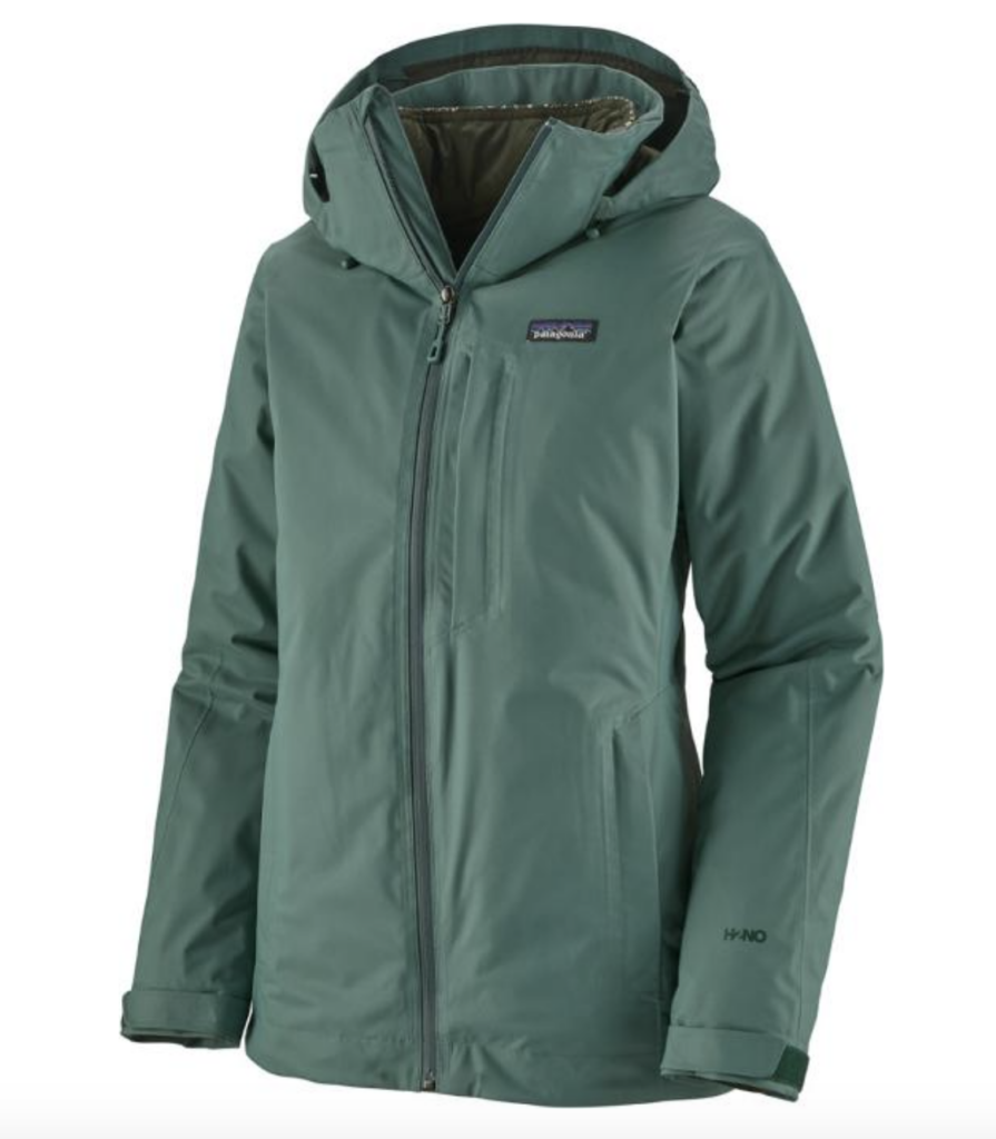 Best women's ski jackets: green Patagonia Snowbelle 3-in-1