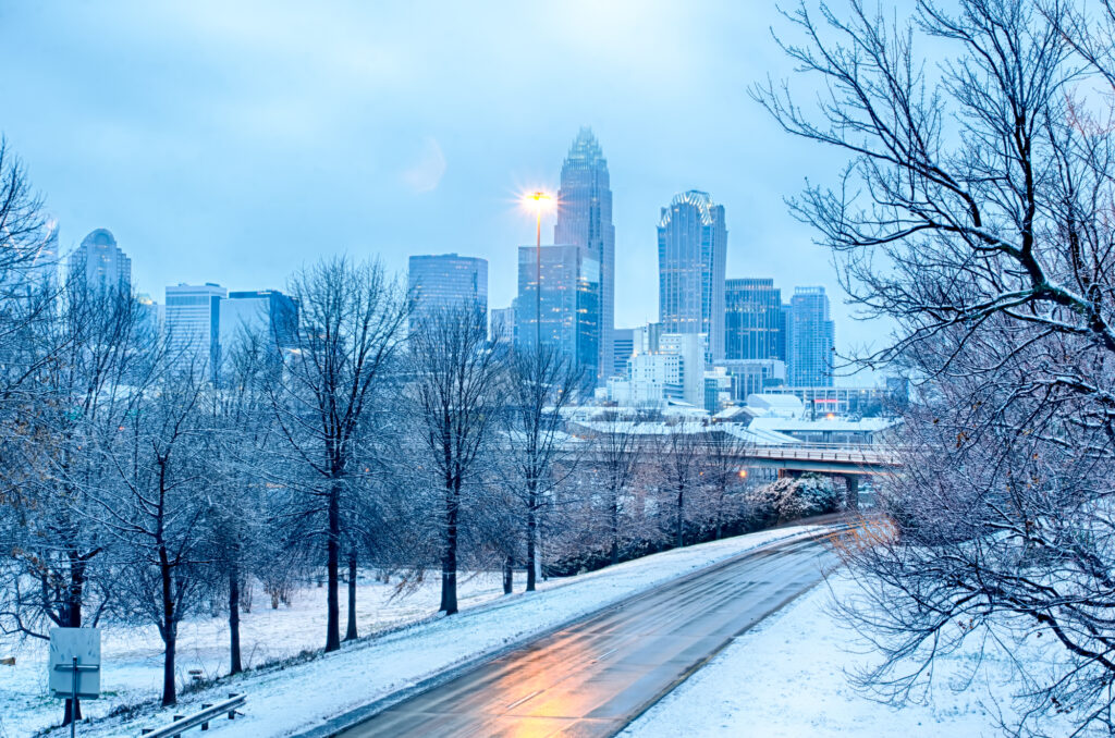 charlotte nc after snow